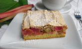 Rhabarberkuchen mit Mandel-Baiser