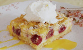 Schnelle Kirsch - Quark - Torte