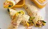 Hähnchen-Wrap mit Mango und Curry-Joghurt