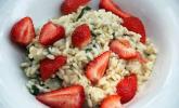 Brennesselrissotto mit Erdbeeren