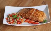 Lachs vom Grill mit Erdbeer-Salsa