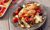 Fenchel mit Hühnerbrust vom Blech