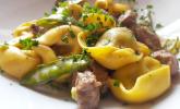 Schnelle Tortelloni-Steak-Pfanne