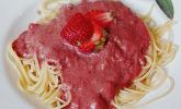 Spaghetti an Erdbeer-Basilikumsoße