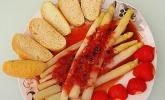 Spargel mit Erdbeersauce