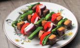 Veganer Schaschlik vom Grill