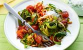 Zucchini-Spaghetti vegetarisch