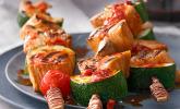 Marinierte Hähnchen-Gemüse-Spieße
