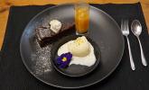 Nachspeise: Mississippi Mud Pie und karibische Kokoskugel treffen andalusische Orange