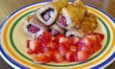 French-Toast-Rolle mit Erdbeeren