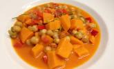 Süßkartoffel-Kichererbsen Curry