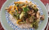 Puten-Gemüse-Pfanne mit Reis
