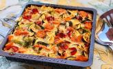 Gemüseauflauf mit Blumenkohl und Champignons