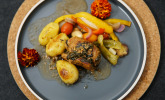 Hauptspeise: Involtini, mediterranes Gemüse und landwirtschaftliche Kultur