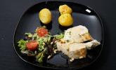 Hauptspeise: Schwiegermamas Zitronenhähnchenbrust mit Rosmarin-Kartöffelchen und einem kleinen Salat