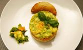 Vorspeise: La salade préférée de papa - Avocado-Karotten-Eier-Salat mit Mayonnaise-Dressing und Pili-Pili
