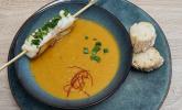 Vorspeise: Süßkartoffel, Möhre, Seeteufel