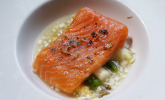 Vorspeise: Lachs, Spargel, Tomate