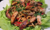 Rezept Pastasalat mit Hähnchenbrust und Ofengemüse