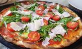 Rezept Pizza Rucola mit Knoblauchöl