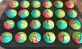 Rezept Schnelle Rainbow-Muffins