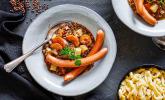 Rezept Schwäbische Linsen mit Spätzle und Saitenwürstchen