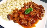 Rezept Vegetarisches Gulasch mit Tofu und Pilzen