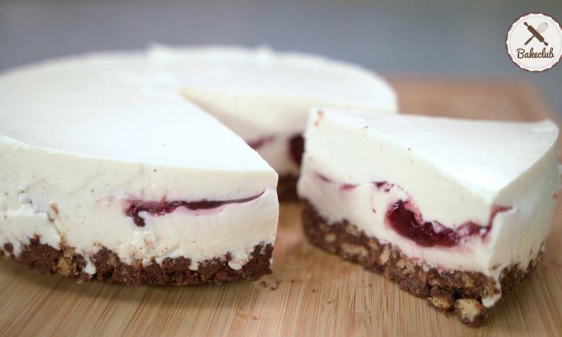 No Bake Cheesecake mit Fruchtgrütze