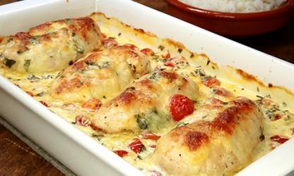 Mozzarella-Hähnchen