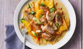 Pute mit Karotten-Orangen-Soße