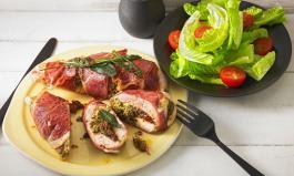 Kochen ohne Kohlenhydrate: Gefüllte Hähnchenbrust