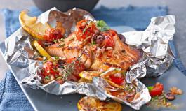 Fisch grillen: Gegrillter Lachs