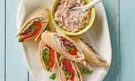 Wraps mit Thunfisch-Creme