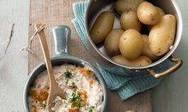 Kartoffeln und Quark