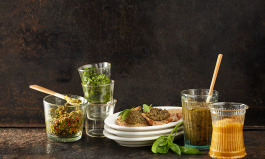 Dips, Marinade und Grillbutter aus Pesto