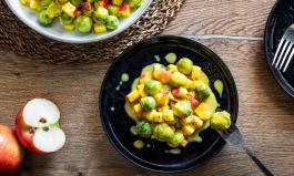 Rosenkohl in Currysauce