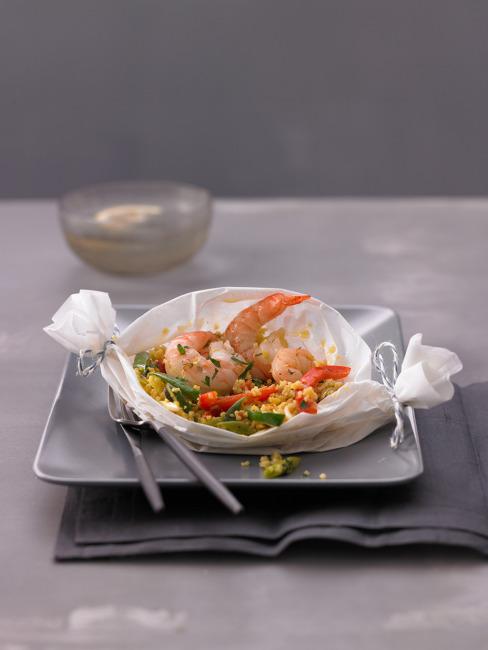 Couscous recipe with shrimp