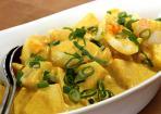 Eiersalat mit selbstgemachter Curry-Mayonnaise