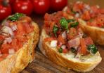 Bruschetta italiana: traditionelle Antipasti