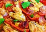 Türkischer Kartoffelauflauf mit Hähnchenflügeln
