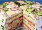 Festliche Sandwichtorte für euer Partybuffet