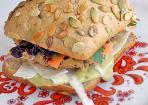Winterlicher Burger vegan