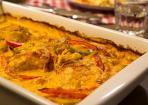 Paprika-Sahne-Hähnchen aus dem Ofen