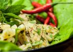 Asiatischer Tintenfisch-Salat