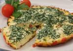 Tomaten-Omelette mit frischem Rucola