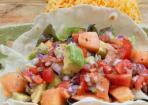 Gewürz-Hack-Tacos mit Melonen-Salsa