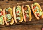 Cheeseburger Hot Dogs mit Rinderhack