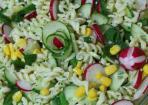 Erfrischender Nudelsalat ohne Mayonnaise