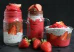 Schoko-Erdbeer-Schicht-Dessert